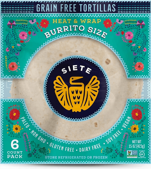 Dr. Gourmet reviews the Burrito Size tortillas from Siete Foods, made with cassava flour