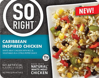 The Dr. Gourmet tasting panel reviews the Caribbean Inspired Chicken from So Right.