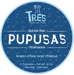 Tres Pupusas Green Chile & Cheese Pupusas Review by Dr. Gourmet