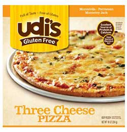 Udi's Gluten Free Three Cheese Pizza Review by Dr. Gourmet