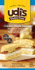 Dr. Gourmet reviews the Chicken Maple Sausage Breakfast Sandwich from Udi's Gluten Free