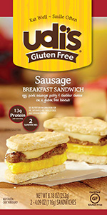 Dr. Gourmet reviews the Sausage Breakfast Sandwich from Udi's Gluten Free
