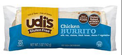 Dr. Gourmet Reviews Chicken, Bean & Cheddar Burrito from Udi's Gluten Free