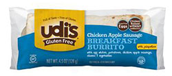 Dr. Gourmet Reviews Udi's Gluten Free Chicken Apple Sausage Breakfast Burrito