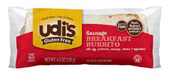 Dr. Gourmet Reviews Udi's Gluten Free Sausage Breakfast Burrito