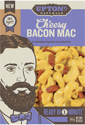 The Dr. Gourmet tasting panel reviews the Ch'eesy Bacon Mac from Upton's Naturals