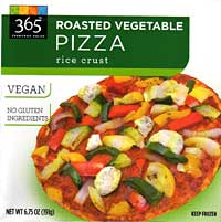 Whole Foods 365 Everyday Values Roasted Vegetable Pizza with Rice Crust