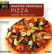 Whole Foods 365 Everyday Values Roasted Vegetable Pizza with Whole Wheat Crust