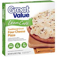 Great Value Lean Cafe Traditional Crust Four Cheese Pizza