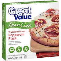 Great Value Lean Cafe Traditional Crust Pepperoni Pizza
